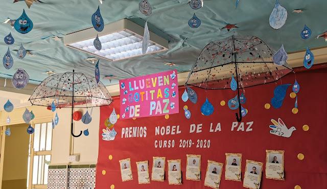 CEIP Rosalía de Castro en Ceuta, Celebración escolar del Día de la Paz, Enseñanza UGT Ceuta, Blog de Enseñanza UGT Ceuta