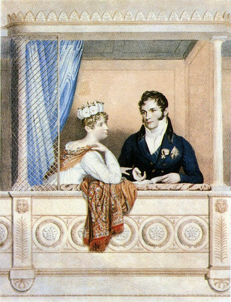 Princess Charlotte Augusta of Wales and Leopold I by William Thomas Fry, after George Dawe, 1817