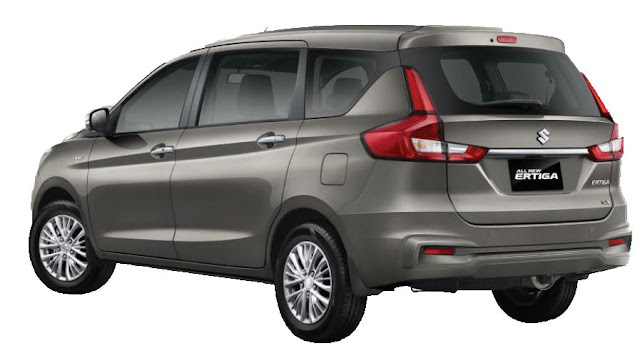 New Maruti Suzuki Ertiga 2018 Three qauter side view