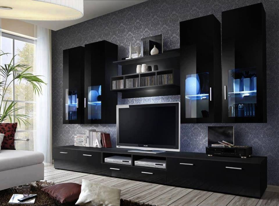 Modern Luxurious Cupboard Designs In Living Room 2016