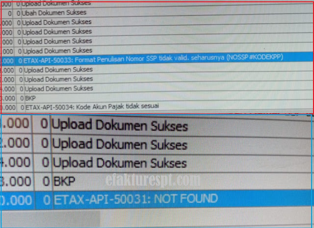 e-Faktur Error ETAX API 50033, ETAX API 50034, ETAX API 50031