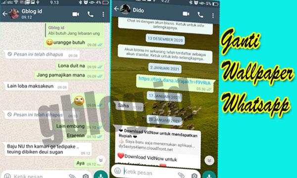 Kini Wallpaper Chat Obrolan WhatsApp bisa berbeda Beda Tiap Kontak