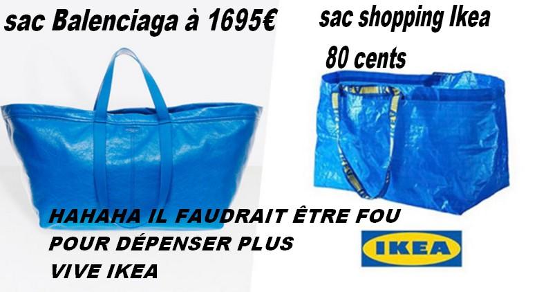 Ikea Sac Copié Balenciaga Bleu Sur Le MGjUzLqSVp