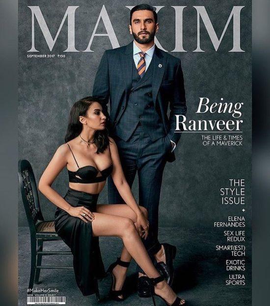 Ranveer Singh On The Cover of Maxim India Magazine September 2017