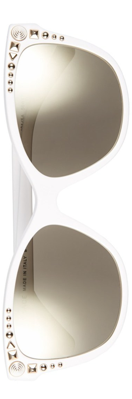 Versace 56mm Retro Sunglasses White