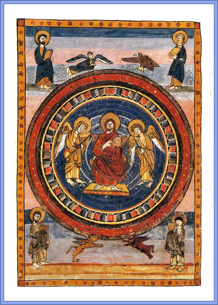 the christ in majesty with symbols of Mla format spencer collection, the new york public library full-page miniature of christ in majesty with four evangelist symbols the new york public library digital collections.
