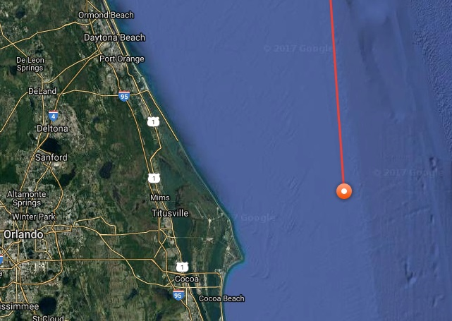 Great White Shark Savannah Tracked Between Cocoa Beach And Daytona
