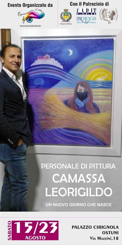 """Ostuni: Al via la mostra personale dell'artista Leorigildo Camassa dal titolo """"Un nuovo giorno che nasce"""""""