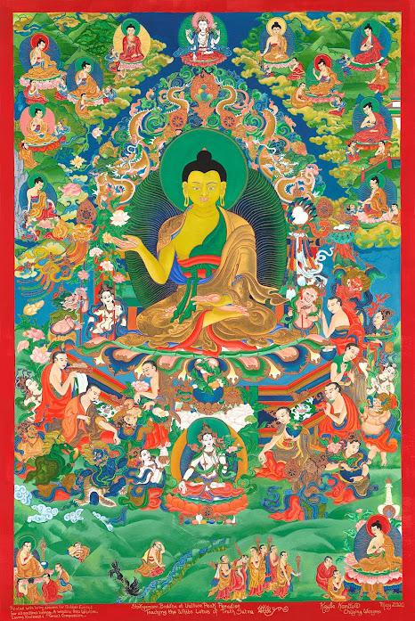 Shakyamuni Buddha Teaching the Lotus Sutra thangka Shakyamuni_Buddha_thangka