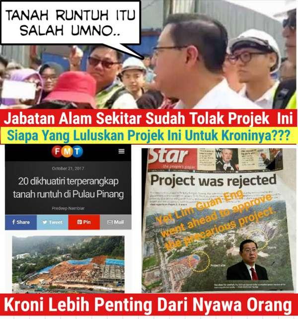 Tanah Runtuh, Satu Lagi Malapetaka Angkara DAP