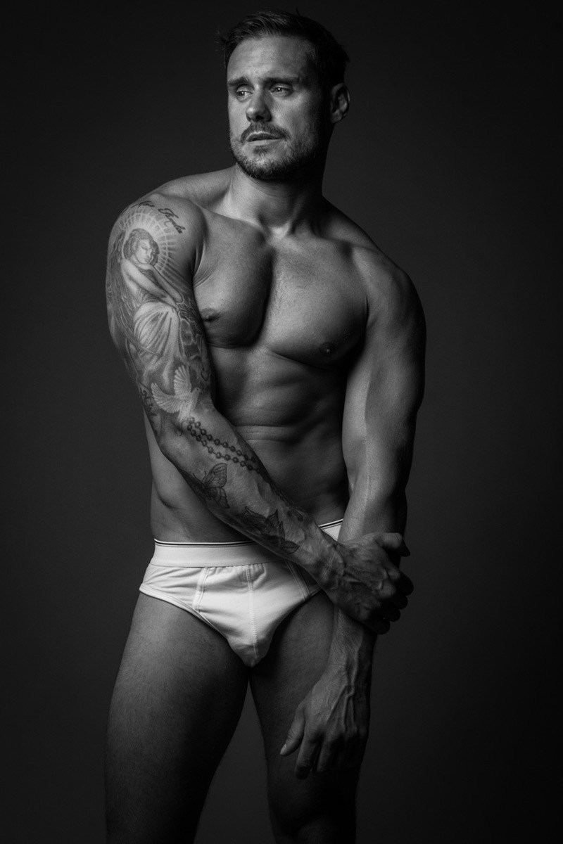 Black and White: Jase Dean Shirtless by Chesterfield Hector