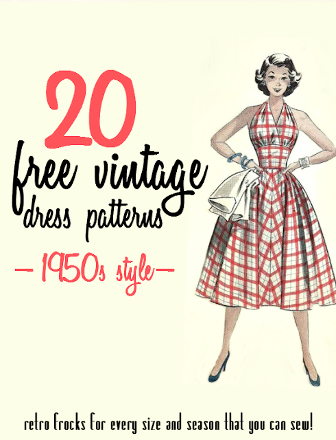 20 free 1950s vintage dress sewing patterns