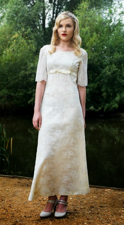 Ankle Skimming Babydoll Style 1960s Wedding Dresses C Heavenly Vintage Brides