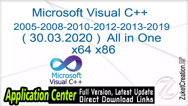 Microsoft Visual C++ 2005-2008-2010-2012-2013-2019 ( 30.03.2020 )  All in One x64 x86