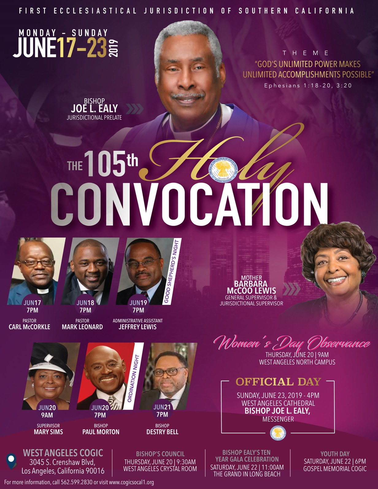 Mississippi Southern 1St Cogic Holy Convocation
