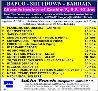 Bahrain Shutdown Project for Bapco