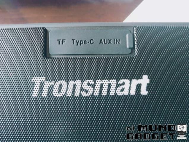 Tronsmart T2 Plus: conectividad USB-C, ranura SD y conector AUX de 3.5 mm