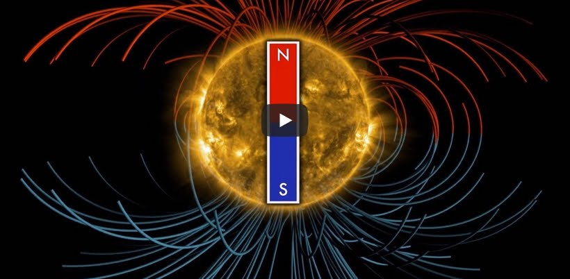 VIDEO NASA: inversione campo magnetico del Sole.