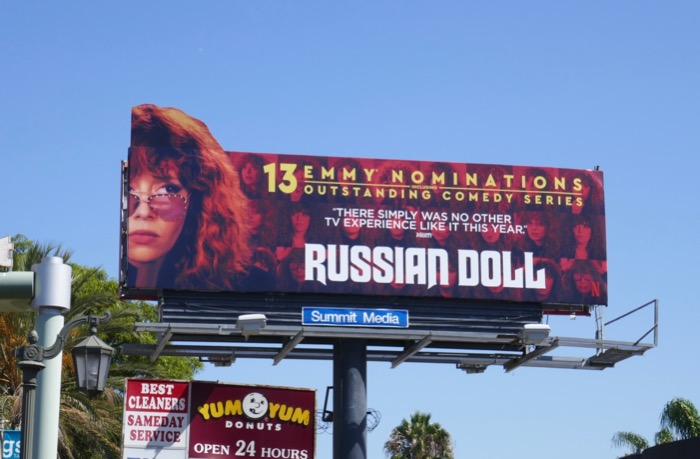 Russian Doll 2019 Emmy nominee extension billboard