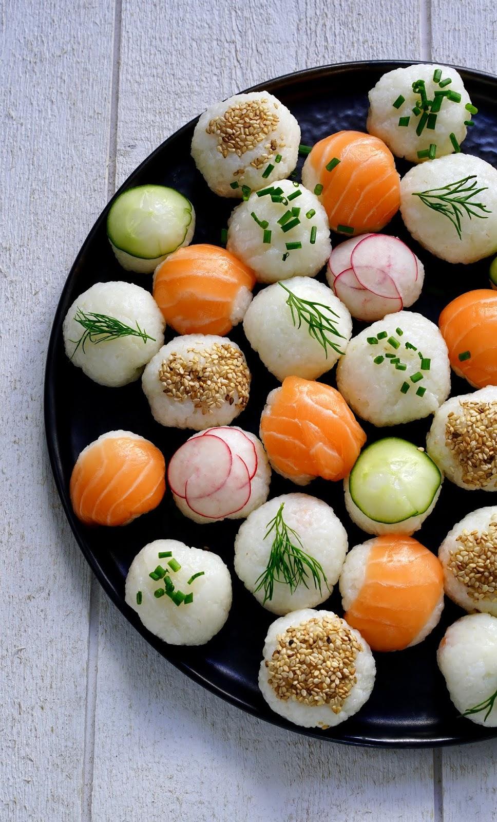 riz à sushi , sushis balls , faciles à faire