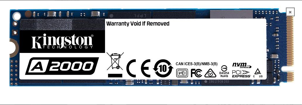 كينغستون تطرح الجيل التالي من أقراص A2000 NVMe PCIe