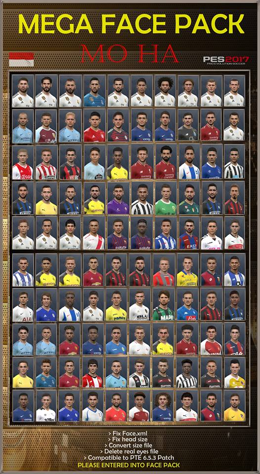 PES 2017 MEGA Facepack by Mo Ha