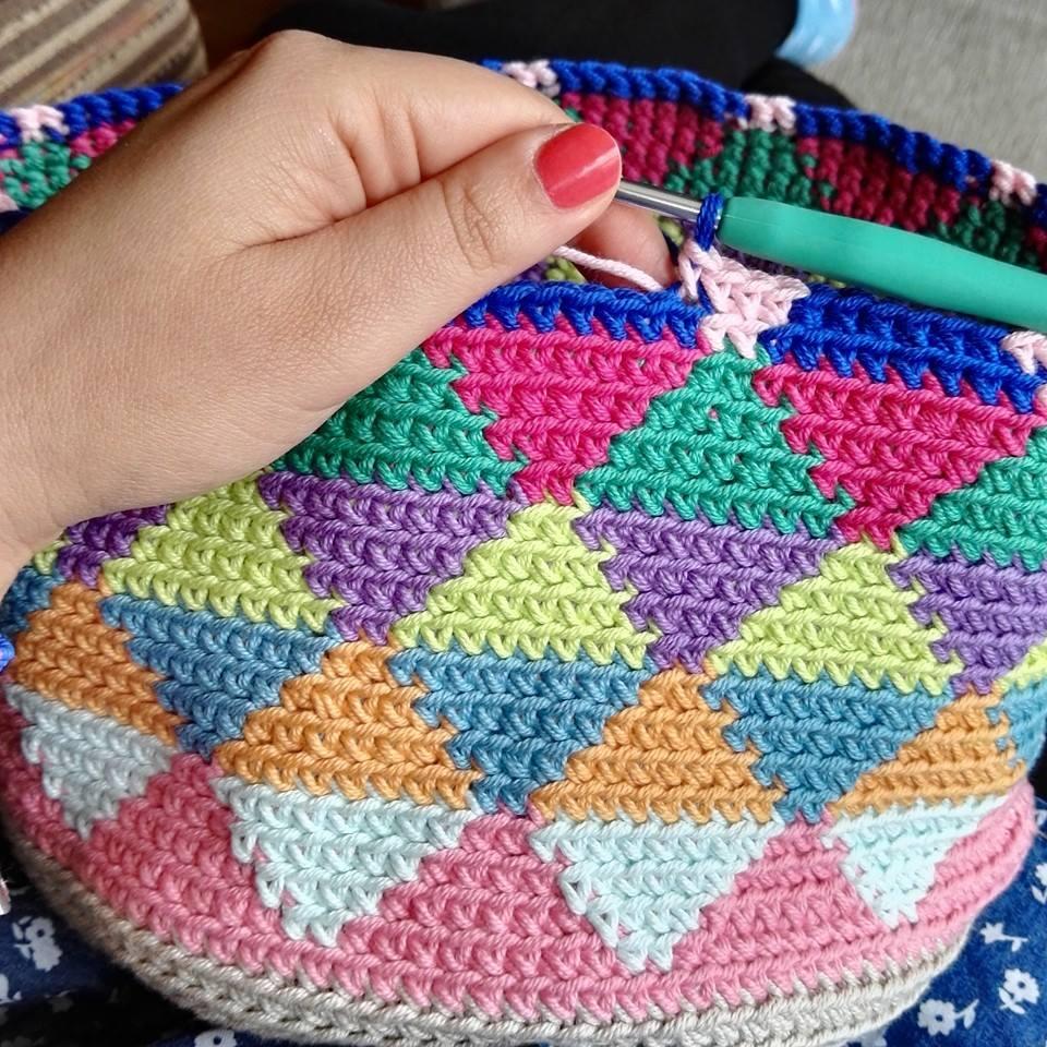 El blog de Dmc: Bolsa de ganchillo estilo Wayuu con Natura Medium ...