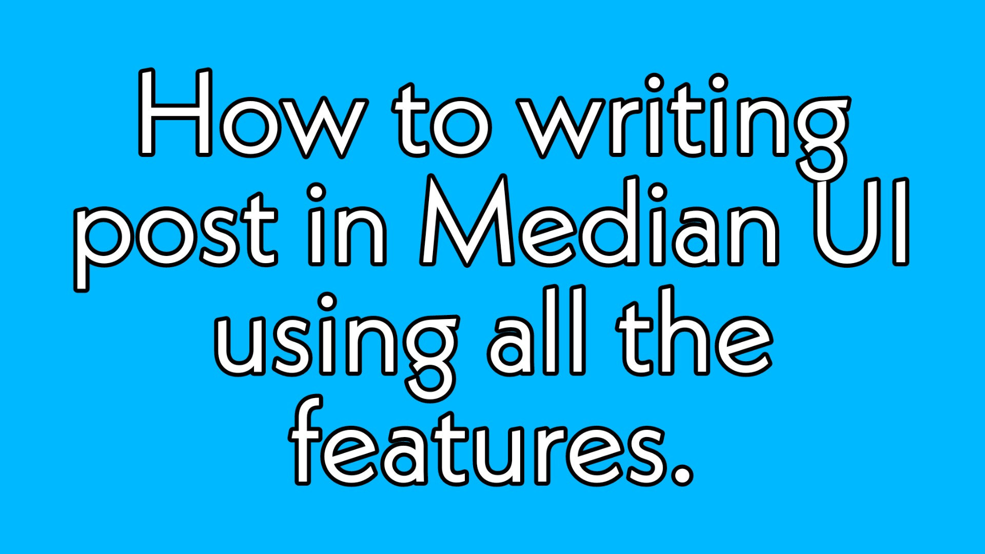 How to write post in Median UI