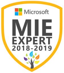 Microsoft Innovative Educator Expert MIEExpert 2018/2019