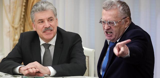 Партии КПРФ грозит запрет в России как нежелательной организации, по мнению В. Жириновского, и он не рекомендует П. Грудинину в нее вступать