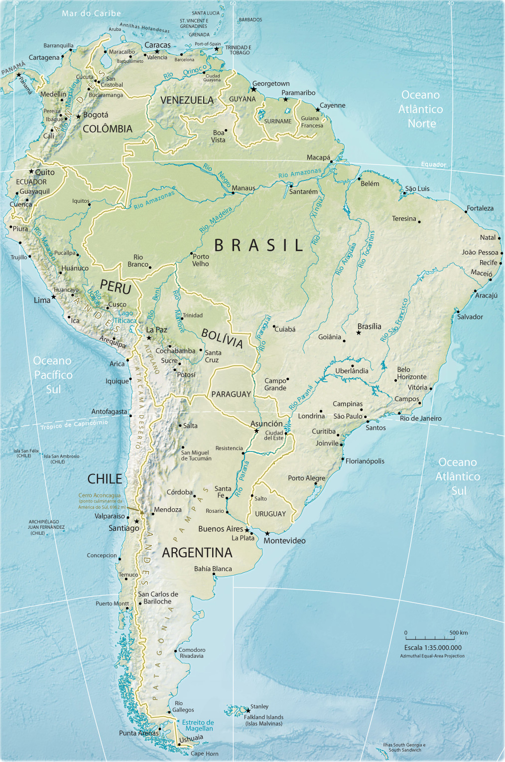 Rios da América do Sul