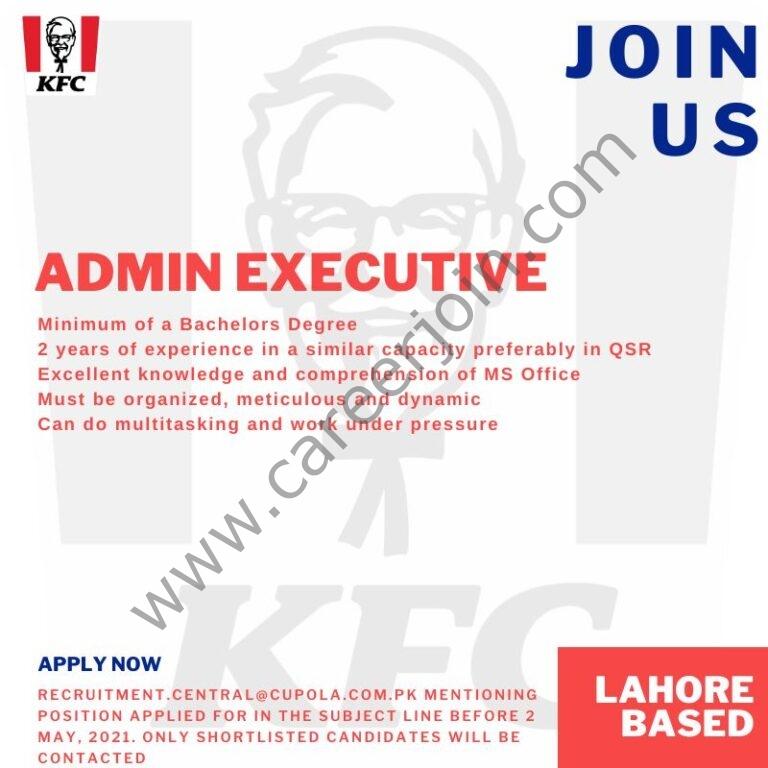 KFC Pakistan Jobs 2021 in Pakistan