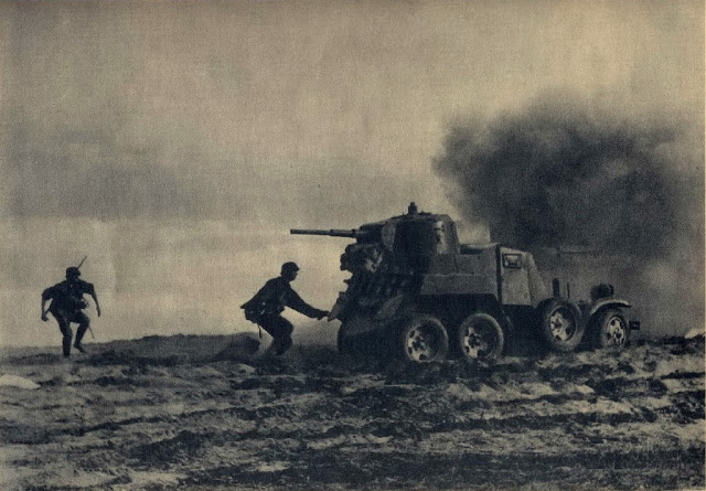 German soldier attacking Soviet BA-10 armored car, 10 August 1941 worldwartwo.filminspector.com