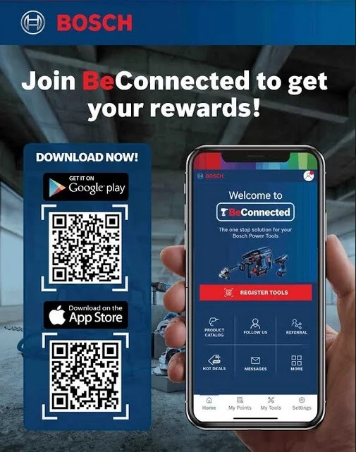 Bosch BeConnected App for Power Tools Now Available on iOS and Android