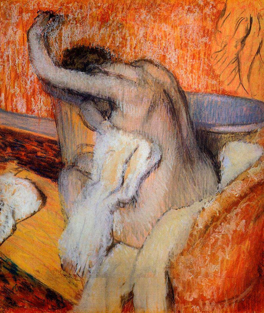Эдгар Дега - После купания (1895-1900)