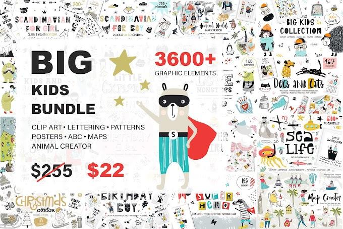3600 + Graphic Element | BIG KIDS BUNDLE