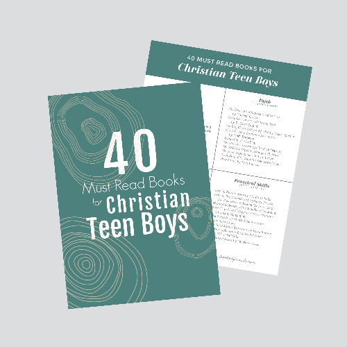 40+ MUST READ Books for Christian Teen Boys #reading #teenlit #christianteen #homeschooling #christianlit