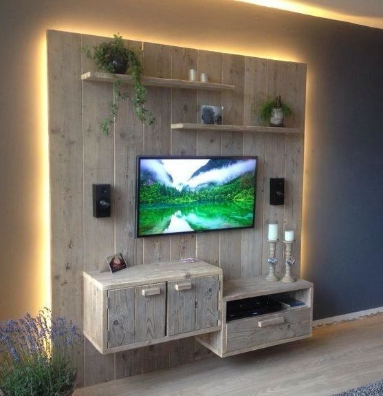50 Creative Living Room Ideas To Incorporate Wall Mounted U0026 Cabinets TVs  Units With Inspiration