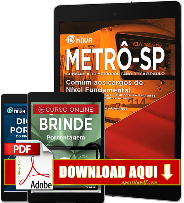 Apostila METRÔ SP 2016 PDF Download Nível Fundamental