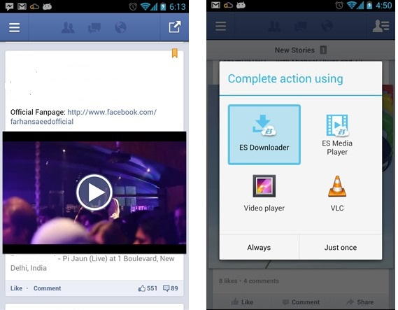 how to download facebook videos on android tablet