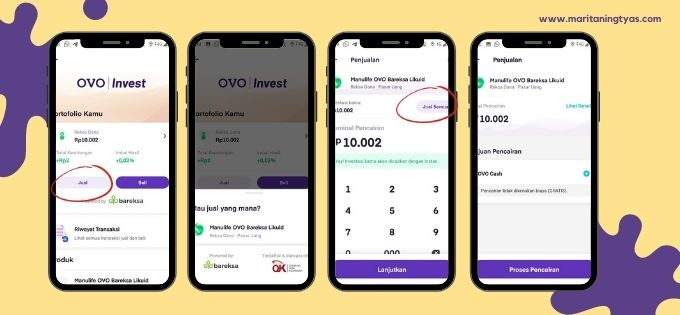 mekanisme pencairan OVO Invest