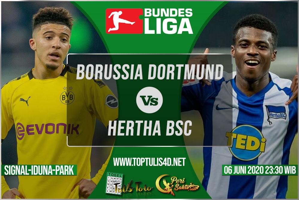 Prediksi Borussia Dortmund vs Hertha BSC 06 Juni 2020