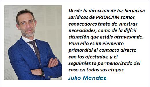 Julio Mendez Director Servicios Jurídicos de PRIDICAM MobbingMadrid