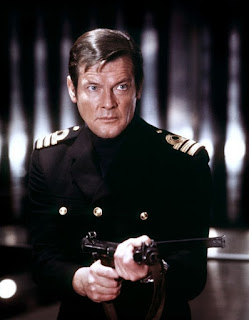 Roger Moore in Royal Navy uniform