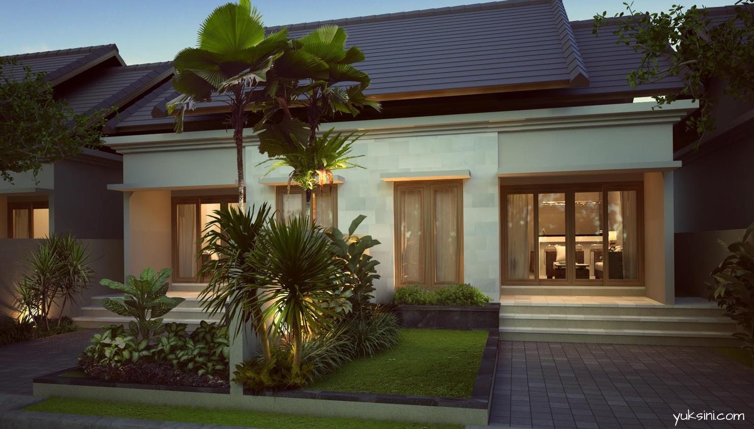 Rumah minimalis type 60 dengan taman kecil