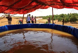 Water purification location in the Somali district of Ethiopia
