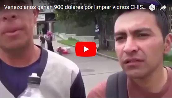 Venezolanos ganan 900 dólares mensuales limpiando vidrios en Ecuador