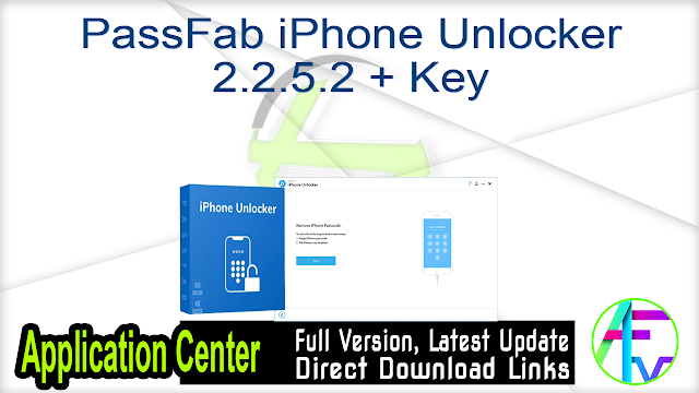 PassFab iPhone Unlocker 2.2.5.2 + Key