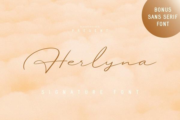 Herlyna Signature Font