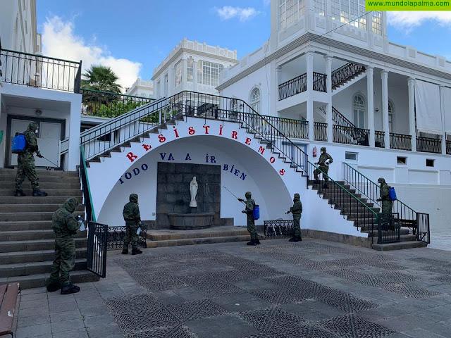 El Cabildo agradece la cooperación del Regimiento de Artillería de Campaña 93 en la limpieza y desinfección del Hospital de Dolores